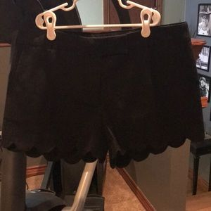 J Crew black pettled shorts